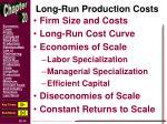 long run production costs