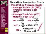 short run production costs1