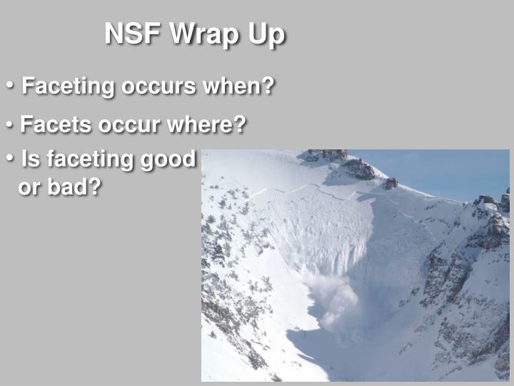 NSF Wrap Up