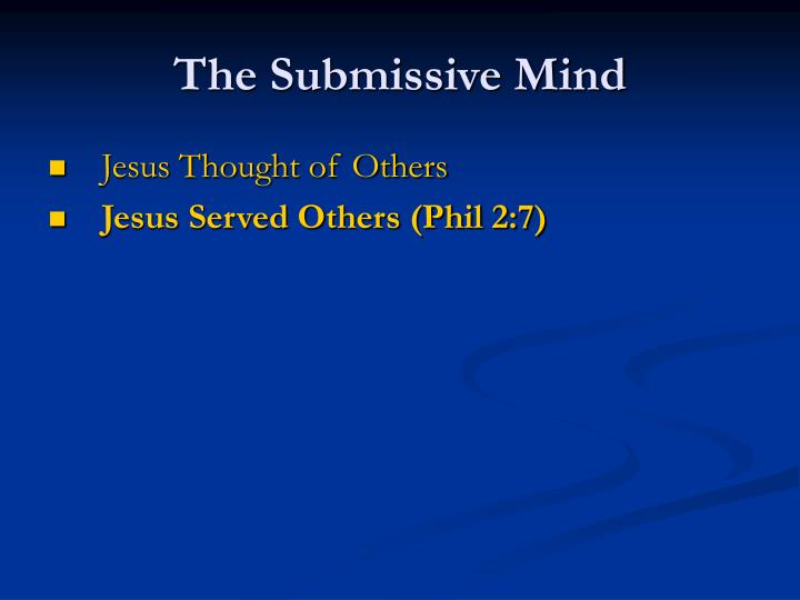 The Submissive Mind