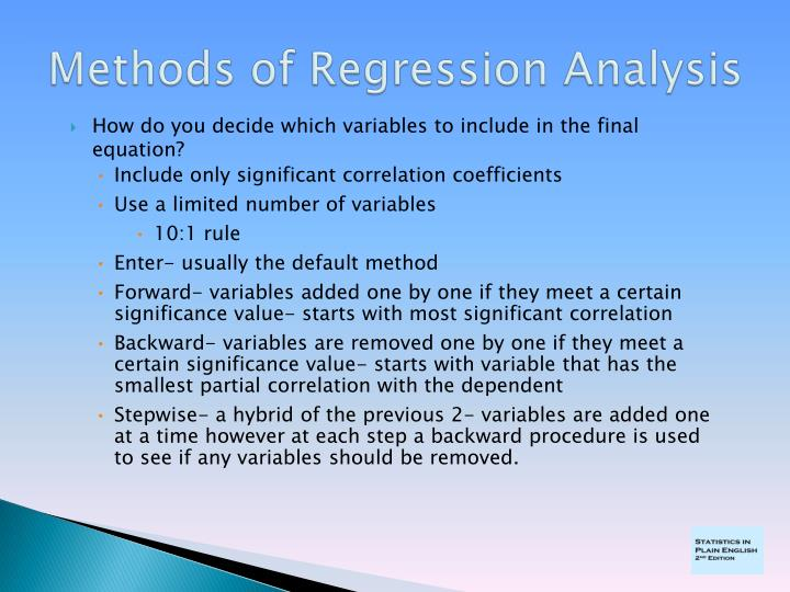 Methods of Regression Analysis