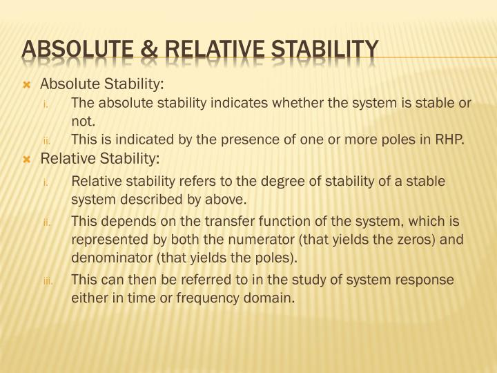 Absolute Stability: