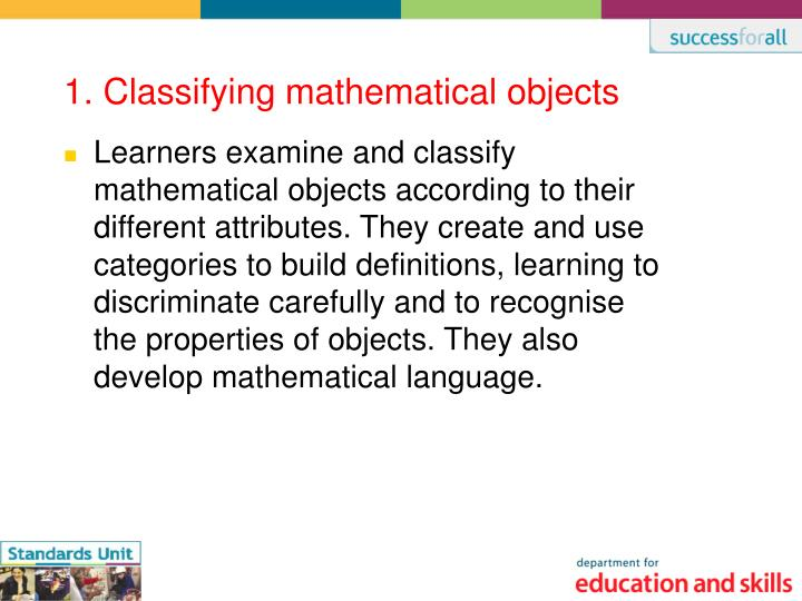 1 classifying mathematical objects