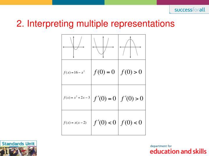 2. Interpreting multiple representations