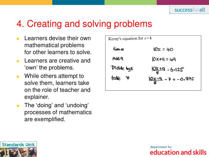 4. Creating and solving problems