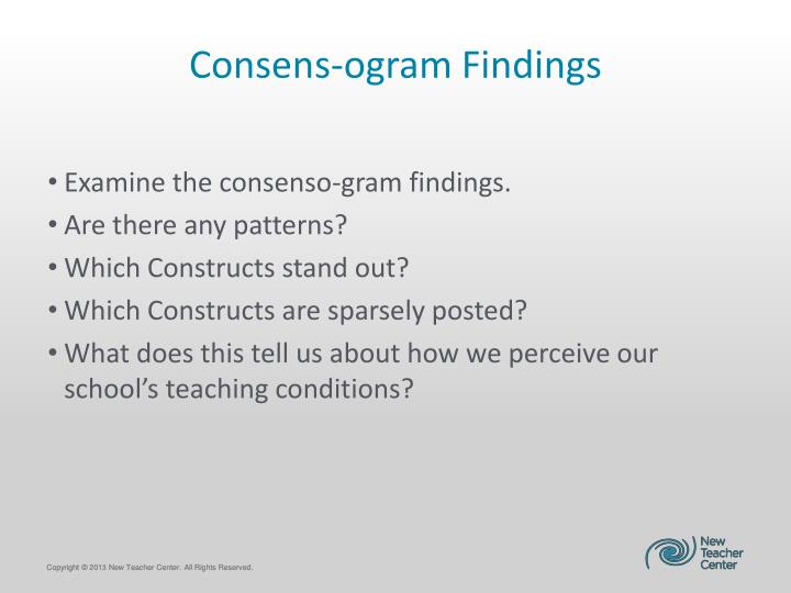 Consens-ogram Findings