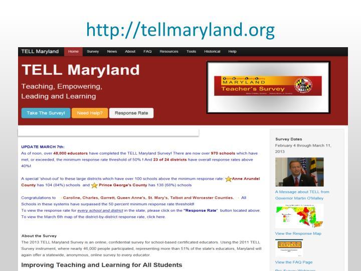 http://tellmaryland.org