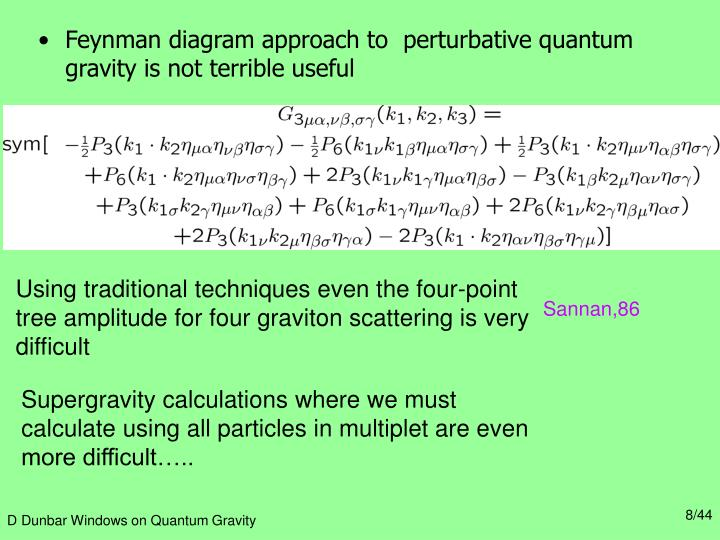 Feynman diagram approach to  perturbative quantum gravity is not terrible useful