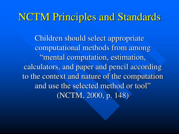 NCTM Principles and Standards
