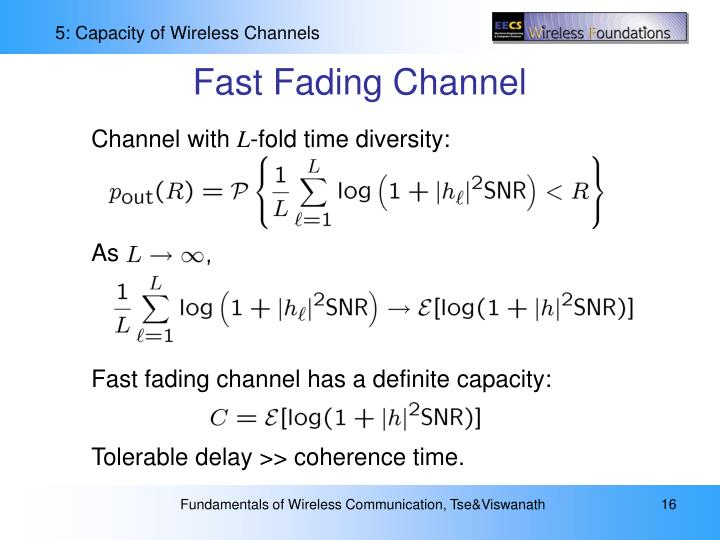 Fast Fading Channel