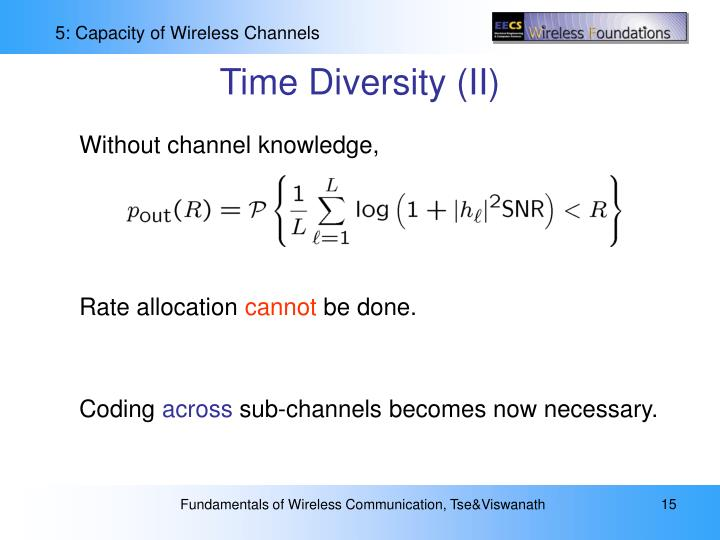 Time Diversity (II)