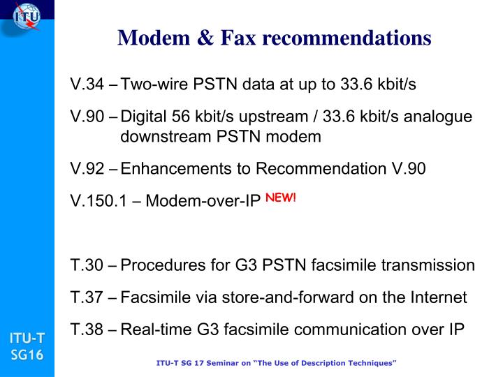 Modem & Fax recommendations