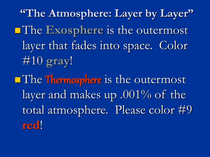 """The Atmosphere: Layer by Layer"""