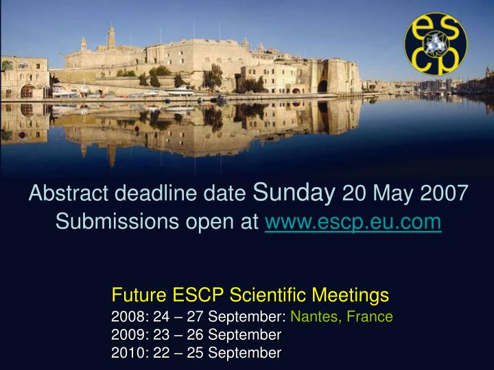 Abstract deadline date