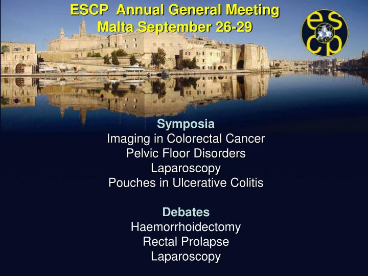 ESCP  Annual General Meeting
