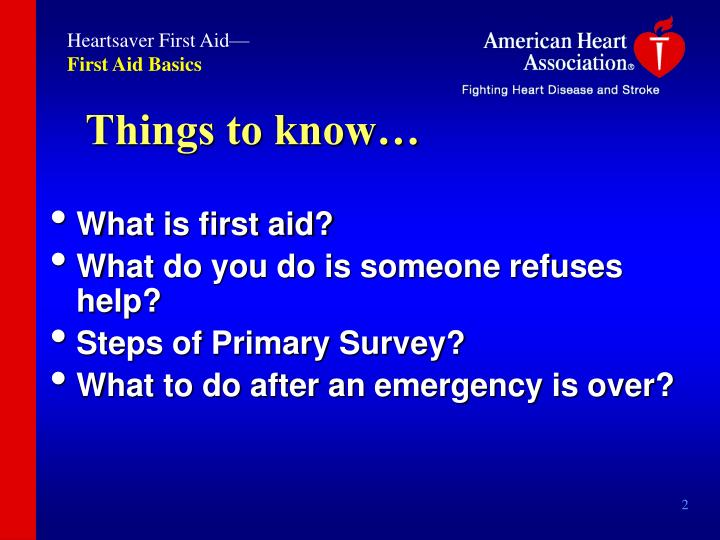 Heartsaver First Aid—