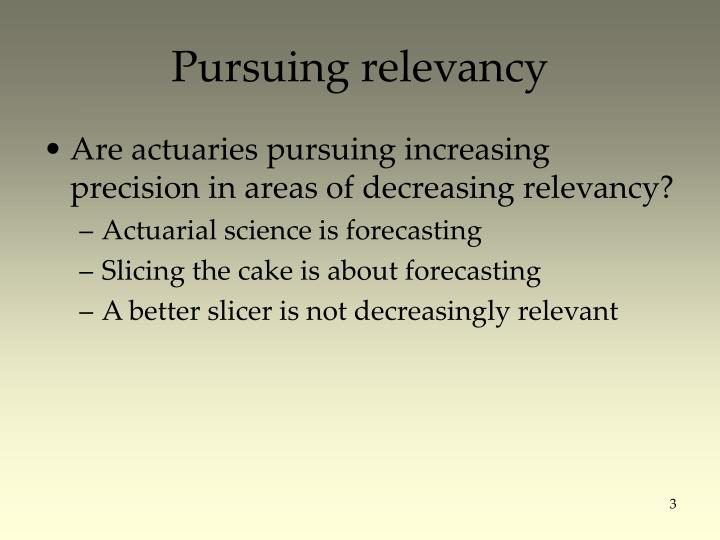 Pursuing relevancy