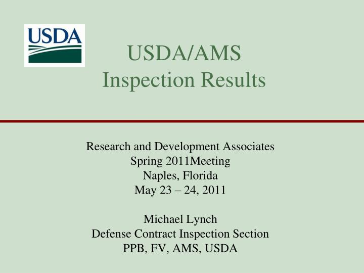 usda ams inspection results