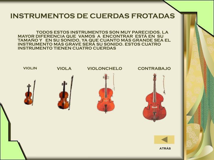 INSTRUMENTOS DE CUERDAS FROTADAS