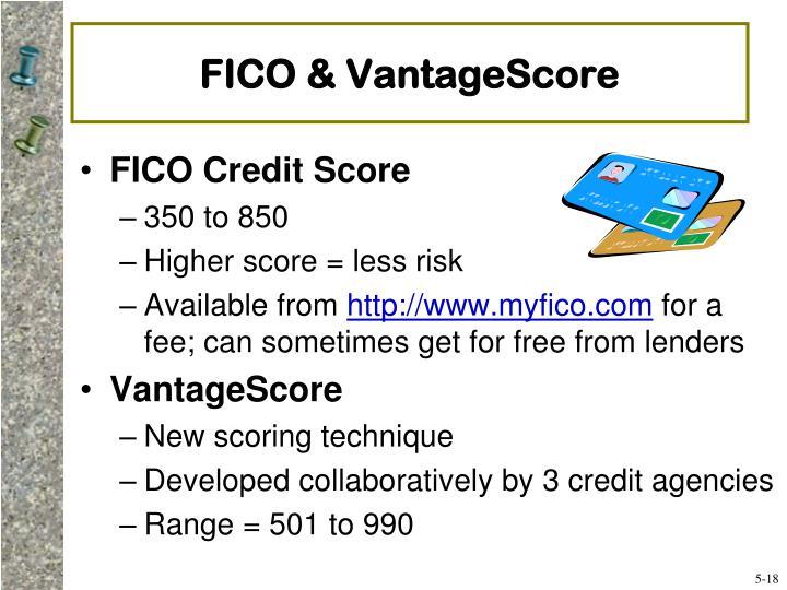 FICO & VantageScore
