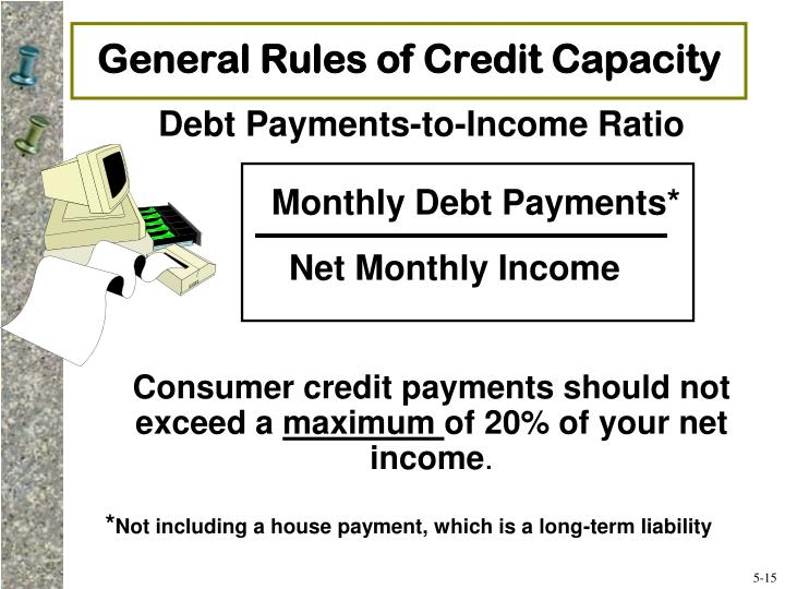 General Rules of Credit Capacity