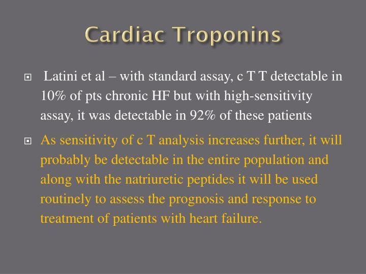 Cardiac Troponins