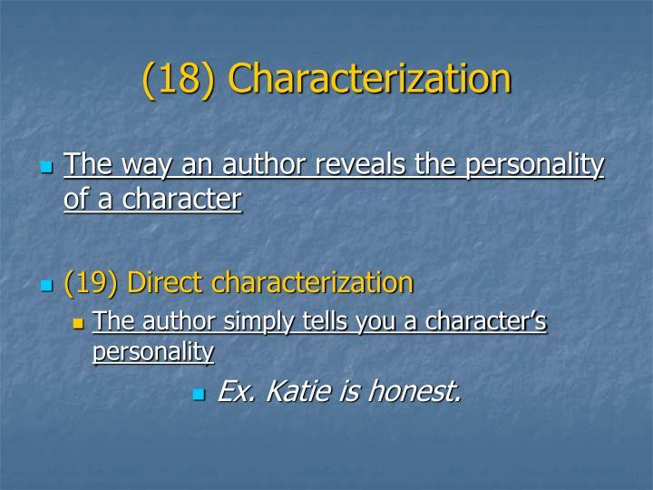 (18) Characterization