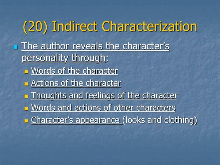 (20) Indirect Characterization