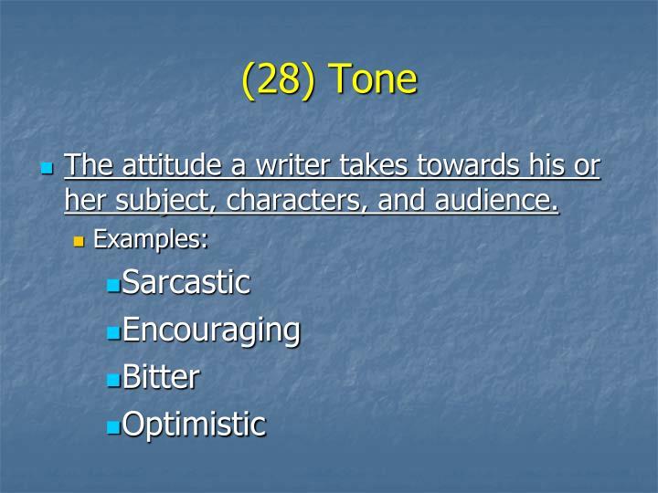 (28) Tone