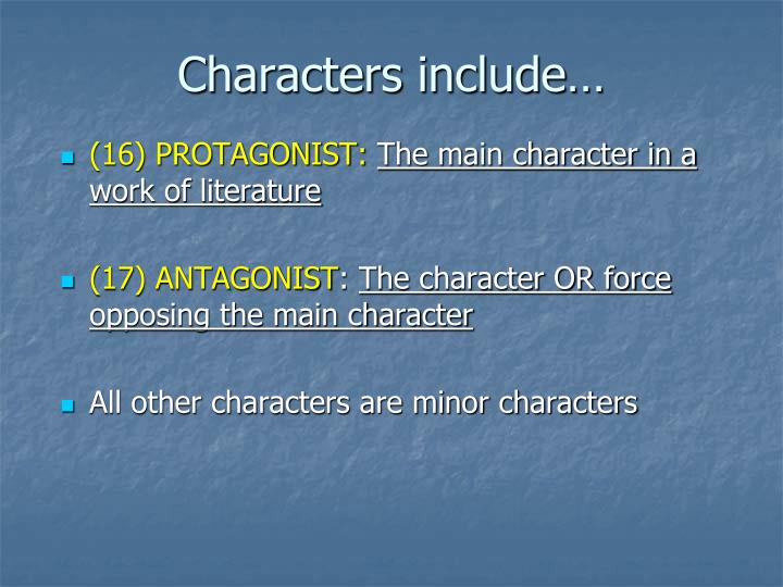 Characters include…