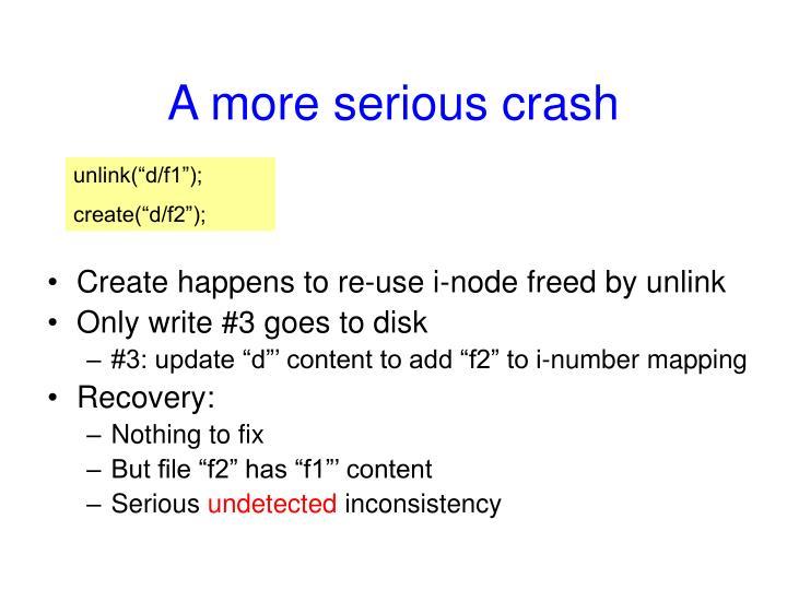 A more serious crash