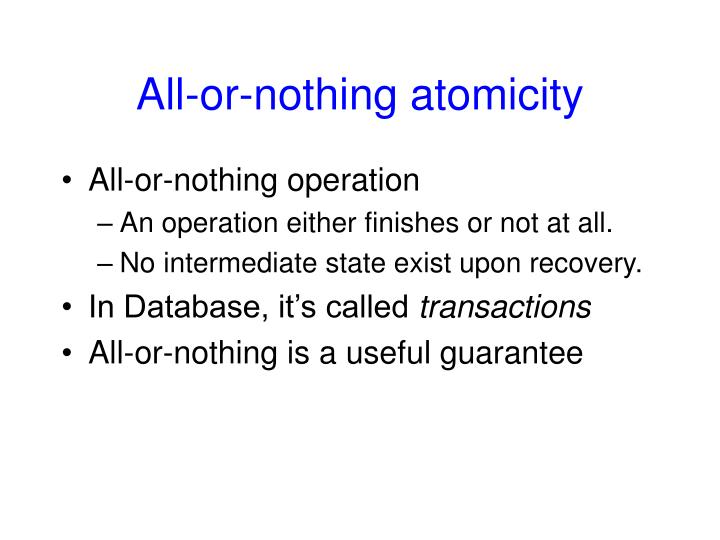All-or-nothing atomicity