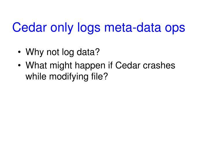 Cedar only logs meta-data ops