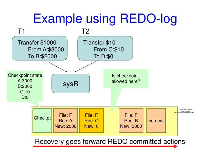 Example using REDO-log
