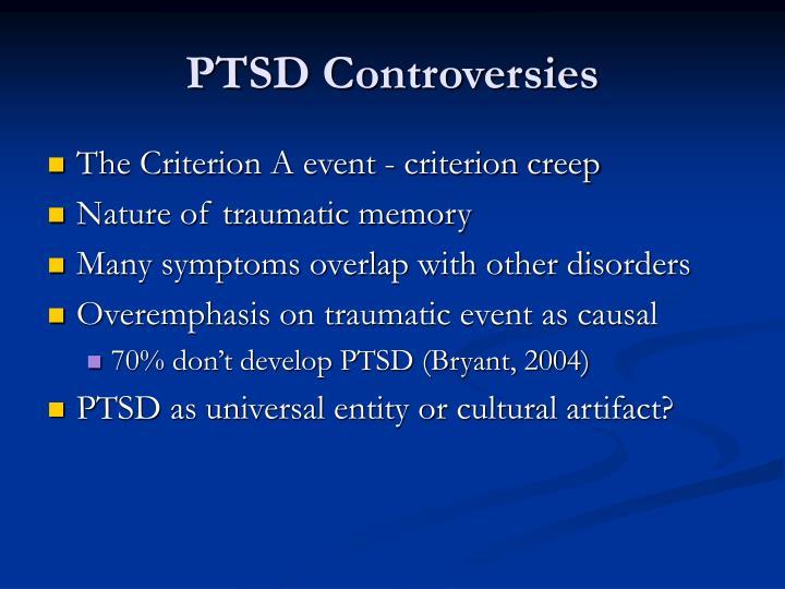 PTSD Controversies