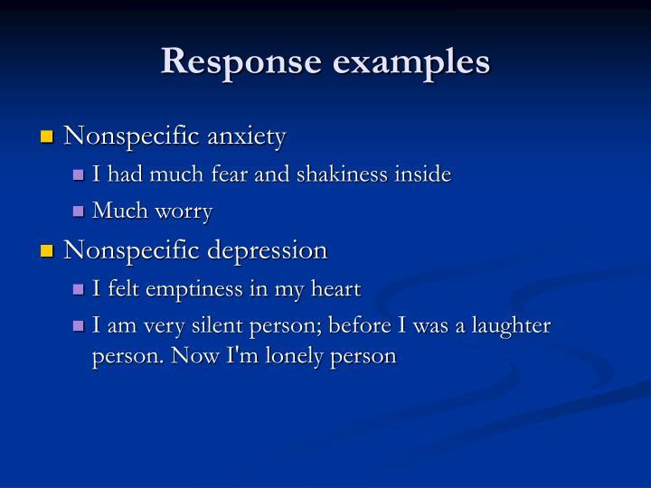 Response examples