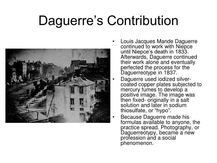 Daguerre's Contribution