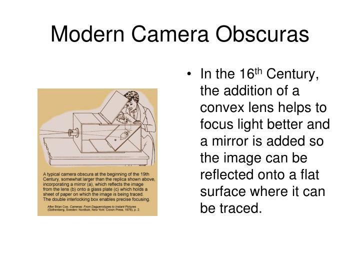 Modern Camera Obscuras