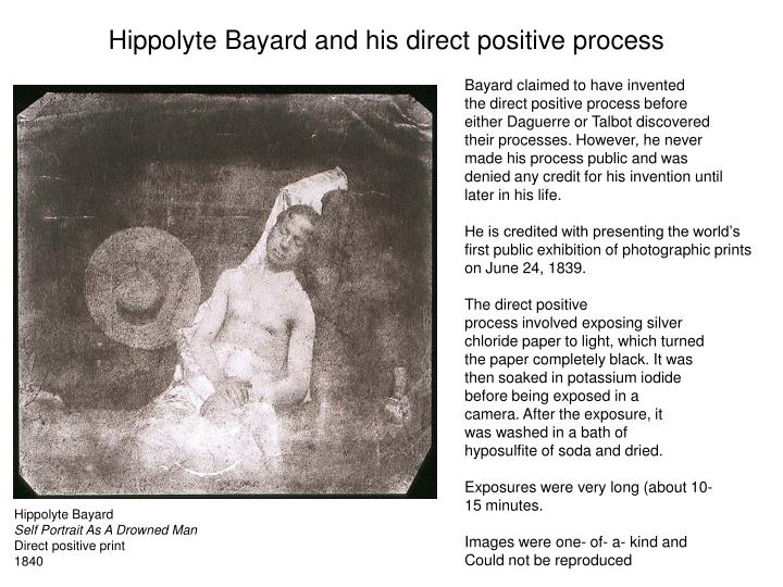 Hippolyte Bayard and his direct positive process