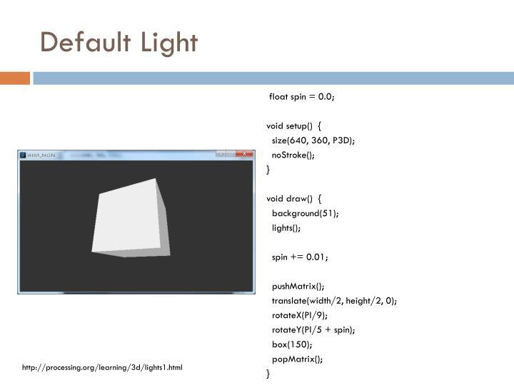 Default Light
