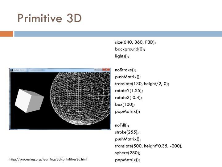 Primitive 3D