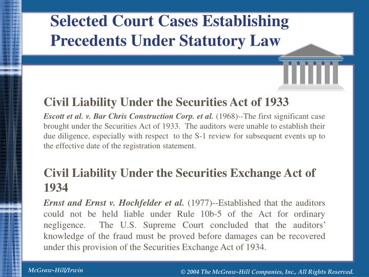 Civil Liability Under the Securities Act of 1933
