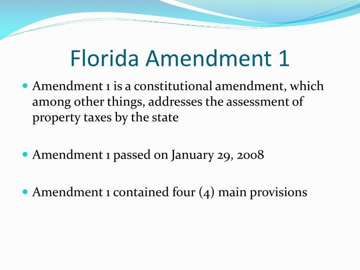 Florida Amendment 1