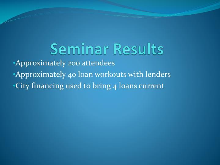 Seminar Results