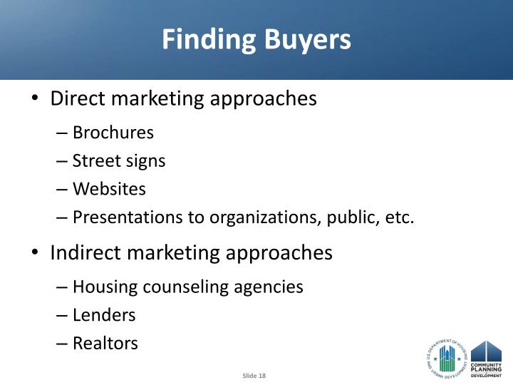 Finding Buyers