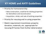 ky home and ahtf guidelines
