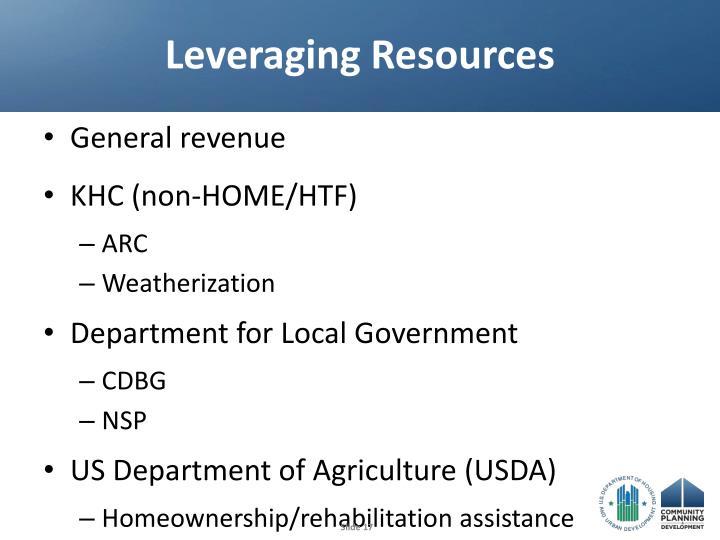 Leveraging Resources