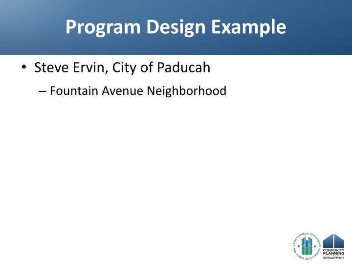 Program Design Example