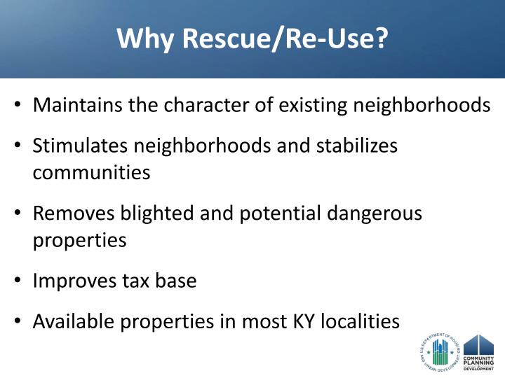 Why Rescue/Re-Use?