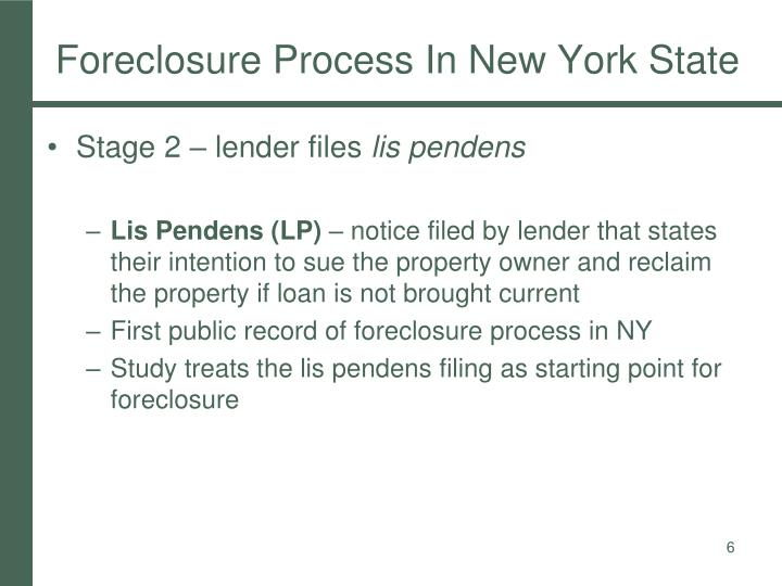 Foreclosure Process In New York State